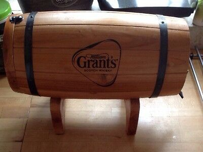 Vintage William Grants Scotch Whisky Barrel Dispenser With Tap