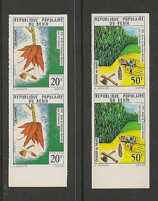 Benin #357-360 VF MNH IMPERF PAIRS - 1976 20fr To 120fr Agriculture