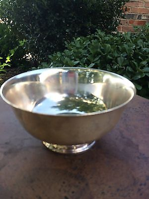 """Vintage Reed & Barton Footed 6 1/2"""" Silverplate Bowl #1120 VGUC"""
