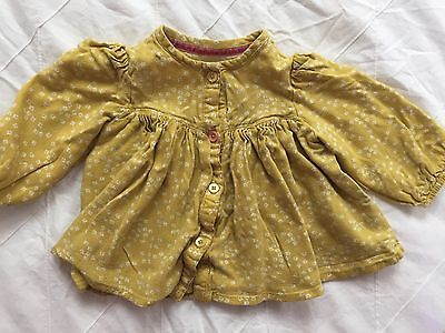 Mamas And Papas yellow Blouse/top Age 6-9 Months