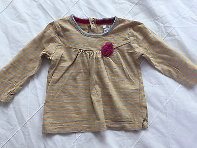 Mamas And Papas long Sleeves Striped T Shirt, Age 3-6 Months