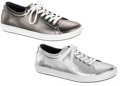 85d29778a911 Birkenstock Shoes Arran Women Silver Bronze Natural Leather Sneakers Lace-Up