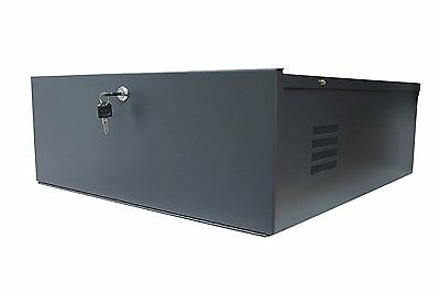 "Kenuco Large Heavy Duty 16 Gauge 24"" x 21"" x 8"" DVR Security Lockbox with Fan"