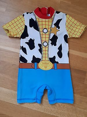 """Gorgeous NEXT Toy Story """"Woody"""" UPF 50+ Swimsuit Age 12-18 Months"""