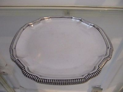 early 20th c french sterling silver bottle coaster gadroons Falkenberg 179g
