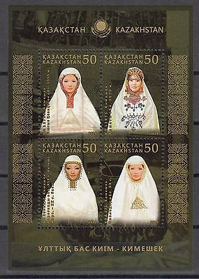 Kazakhstan Kasachstan 2015 MNH** Mi. 866-869 Bl.65 Kimeshek National Headdresses