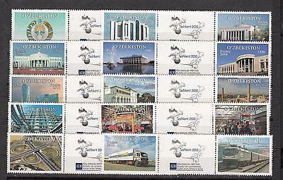 Uzbekistan Usbekistan MNH** 2010 Mi. 857-894 Meeting Asian Dev. Bank See 2 Scan