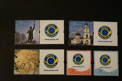 Moldova Moldawien 2009  MNH** Mi. 663-668 Stamps with Greetings