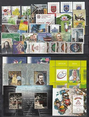 Latvia Lettland 2016  MNH** Mi.Year Set