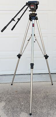 Bogen by Manfrotto 3068 Tripod with 3066 Fluid Head - Dual Arms, Tripod Plate #2