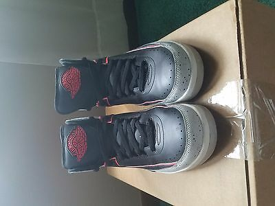 NIKE AIR JORDAN 2 RETRO II INFRARED CEMENT GREY BLACK MENS  size 10