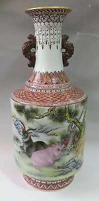 Antique Chinese Qing DY Porcelain vases Hand painting gilded gold