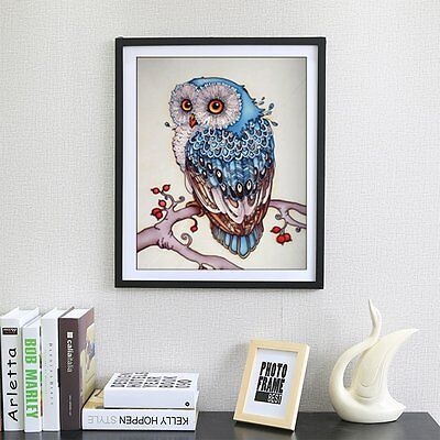 Living Room 5D DIY Full Diamond Plated Embroidery Animal Owl Pattern Painting PN