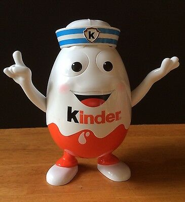 "KINDER Surprise Sailor 10"" Store Display Egg Man Moveable Arms"