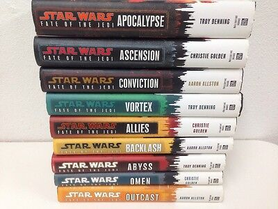 Star Wars Fate Of The Jedi 9 Book Complete Series Hardcover