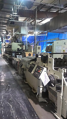 """Comco 16"""" Flexo Graphic Print Press 8 color print press with Flatbed die cutter"""