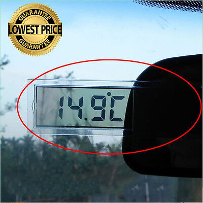 LCD Digital Thermometer Suction Cup LCD Temperature Meter Home Indoor Outdoor EP