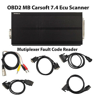 MB Carsoft 7.4 Multiplexer OBDII Interface Fault Code Reader For Mercedes Benz