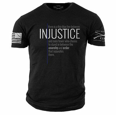 THIN BLUE LINE-Grunt Style graphic t-shirt