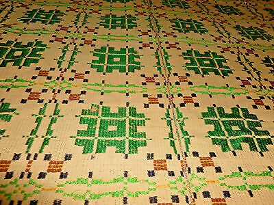 GREAT ANTIQUE PIECE OF OLD HOME SPUN coverlet done in great colors
