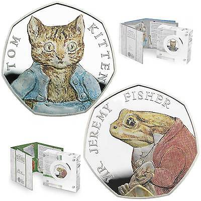 Royal Mint Tom Kitten & Jeremy Fisher™ 2017 UK 50p Silver Proof Coins