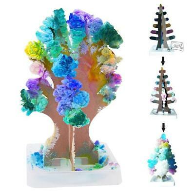 MAGIC GROWING Tree Kids Crystal Kit Paper Decoration Tree Science Toy Gift New C