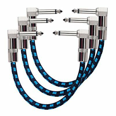 Rayzm Guitar Patch Cable - 6.35mm Noiseless 15cm Pedalboard Patch Cable, Rayzm