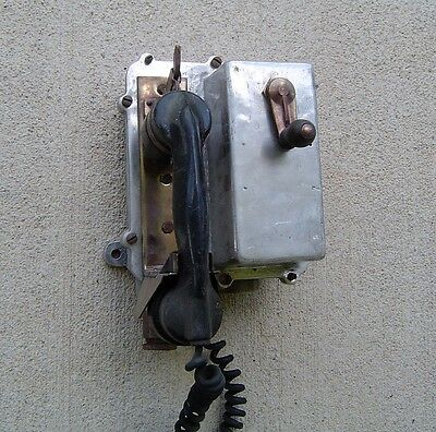 Vintage Bulk Carrier Ship's Wall Phone - Antique Sound Powered Telephone