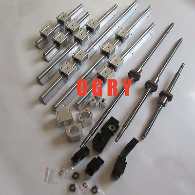 Ballscrew RM1605-350/650/750+ 2 rail set SBR16-300/600/700+3 BK/BF12 +3 coupler