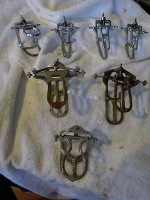 Used Our #7 Lot Fixed Spring Articulators Total 7 - 3 Bronze 4 Chrome Plated Var