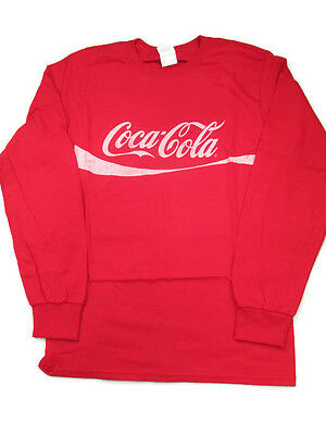 Coca-Cola  Red Long Sleeve Tee T-shirt w/ Faded Coca-Cola Logo X-Large XL