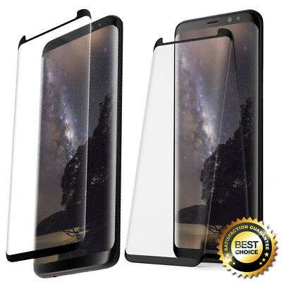 Poetic For Samsung Galaxy S8 Tempered Glass Screen Protector [Full Coverage] BLK