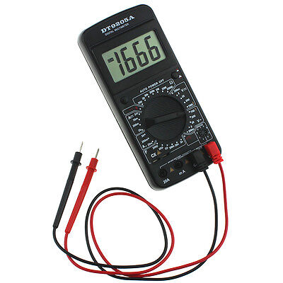 DT-9205A Digital AC DC LCD Professional Electric Handheld Tester Multimeter