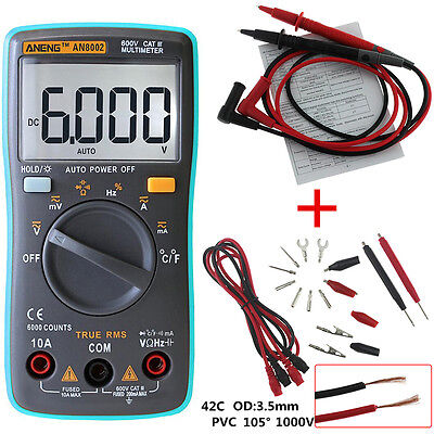 ANENG AN8002 Digital Ture RMS 6000 Counts Multimeter AC/DC Current Voltage