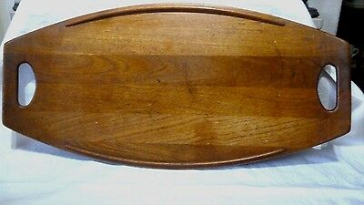 "VINTAGE 1950 60's mid century 23.5"" DANISH TEAK WOOD TRAY by DANSK DESIGNS"