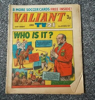 Valiant and TV21 comic 23 October 1971