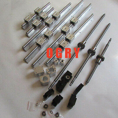 2 SBR16-300/800/1100 + ballscrews1605-350/850/1150 +3 bearing mounts +3 coupling