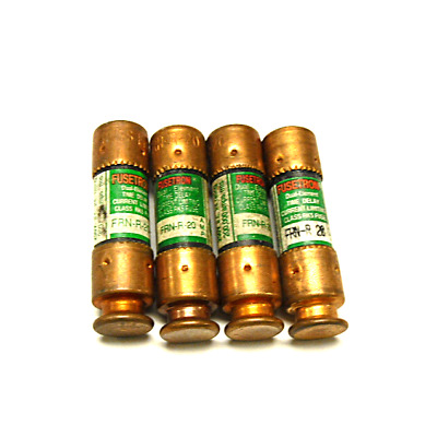 Lot Of 4 New Fusetron Frn-R-20 Fuse Duel Element
