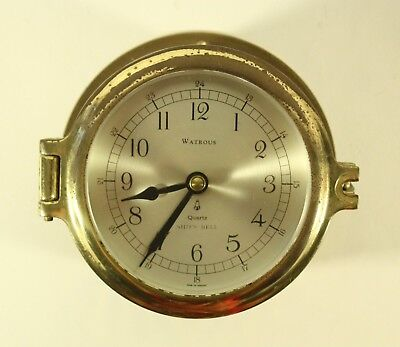 WATROUS Quartz Heavy Brass SHIPS BELL CLOCK NR Made In Germany RARE