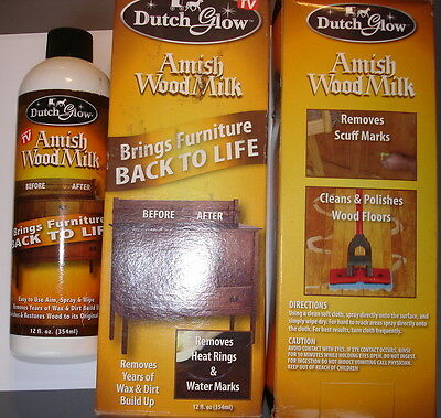 Dutch Glow Amish Wood Milk ~ Brings Furniture Back to Life AS ON TV = 75% FULL