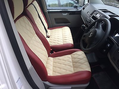 Vw T5 Combi Seats Nearly New Leather Bentley Stitched