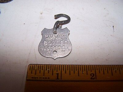 1972 INDIANA DOG TAX Tag - FULTON COUNTY