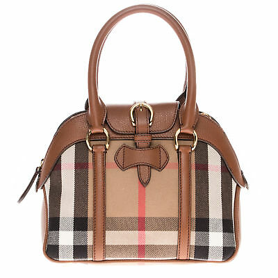 2d767098478e BURBERRY WOMEN S MEDIUM Alchester in House Check and Beige Tan ...