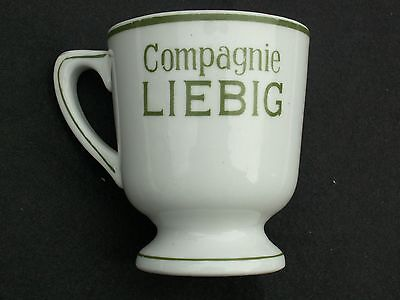 tasse ancienne publicitaire faience céramique OXO LIEBIG bistrot absinthe TBE