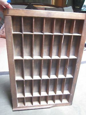 """Vintage Wooden Printer's Typeset Drawer Tray Shelf Approximately 11"""" by 16"""""""