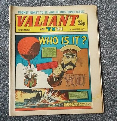 Valiant and TV21 comic 21 October 1972