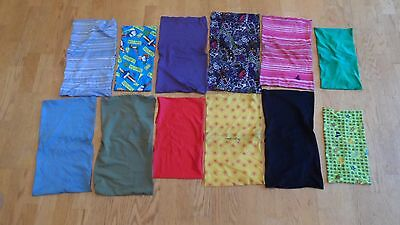 Qty 12 Lot Mixed Book Sox Cloth Stretchable Book Cover Washable