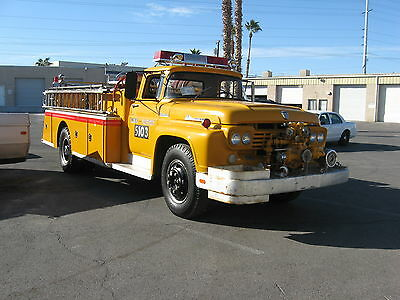 1959 FORD F-800 FIRE TRUCK VINTAGE ANTIQUE parade PUMPER TRUCK