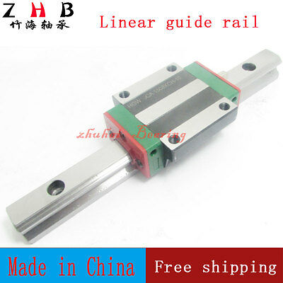 NEW linear guide HGR25 L1000mm and 2pcs HGH25CA cnc rail block linear block CNC