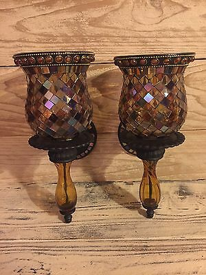 Partylite Global Fusion Peglite & Wall Sconce Candle Holders Set of 2.